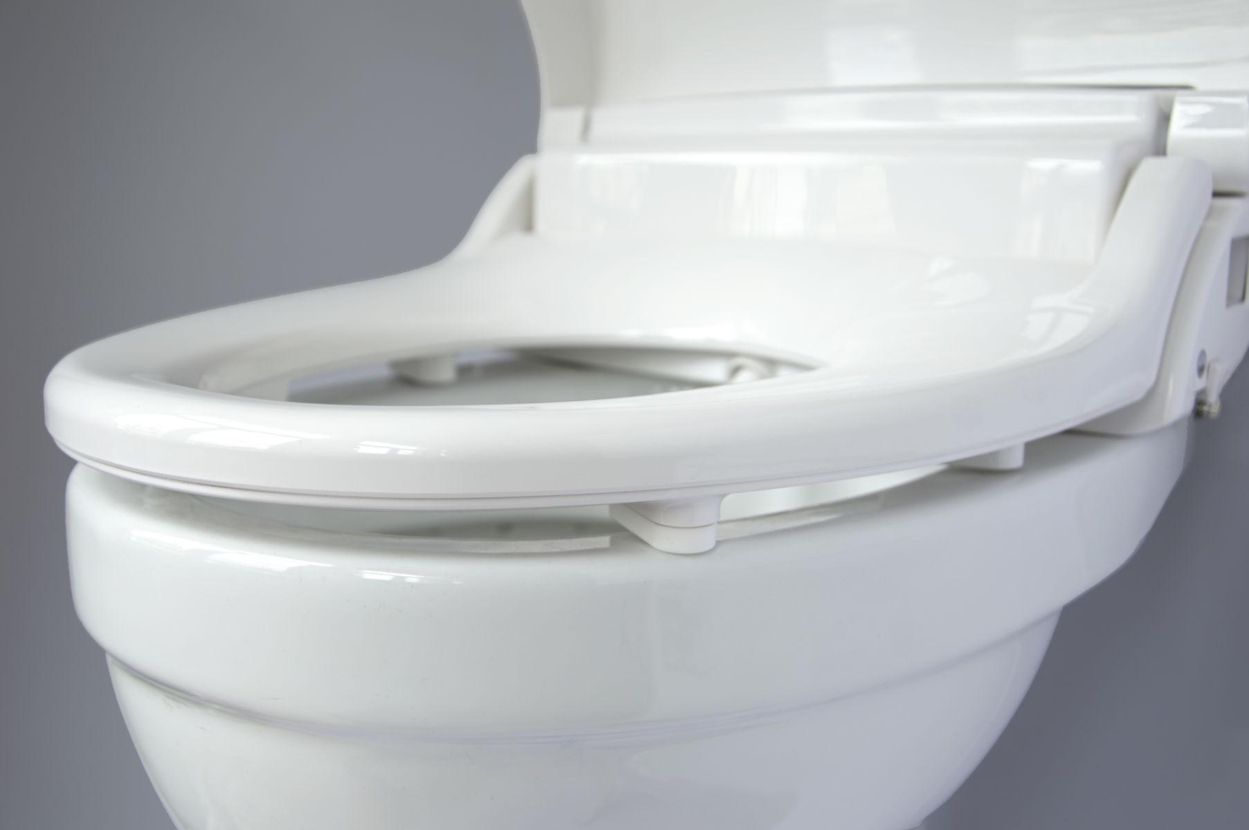 Toilet Met Sproeier : Wandcloset creavit met bidet wit keramiek excl zitting